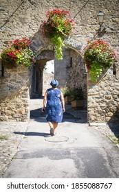 City gate in Prats-de-Mollo-la-Preste, Pyrenees, France - Shutterstock ID 1855088767