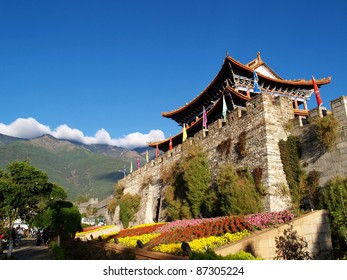 City gate and city wall of Dali, Yunnan province, China