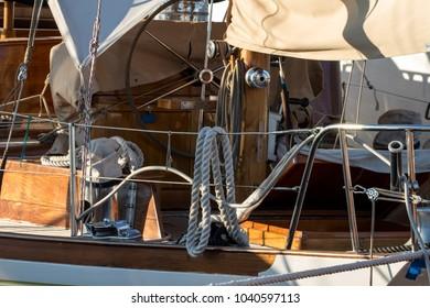 city of Genoa, Italy - Marina Airport: detail of a rudder for sailboats