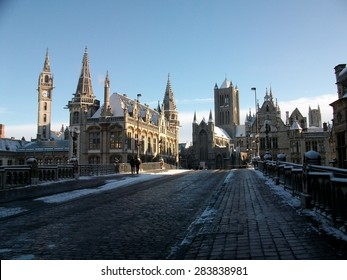 City of Gent in Winter