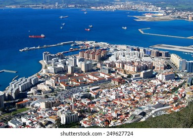 City of Gibraltar aerial view