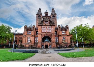 City of Glasgow, Scotland, UK - Sept. 25. 2018: The Kelvingrove Art Gallery and Museum