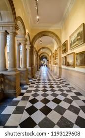 City of Glasgow, Scotland, UK - Sept. 25. 2018: Interior view of the Kelvingrove Art Gallery and Museum