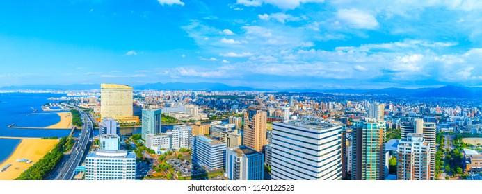 City of Hakata Fukuoka in Japan