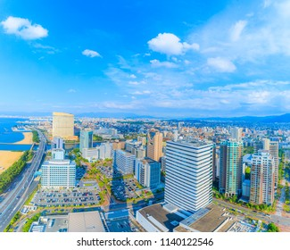 City of Hakata Fukuoka in Japan