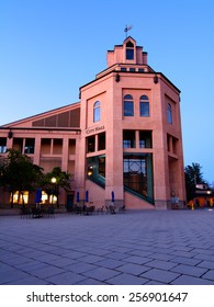 The City Hall building in Mountain View, California, during the morning blue hour