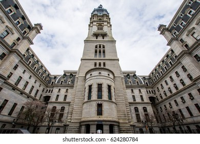 City Hall in center city philadelphia, pennsylvania during spring