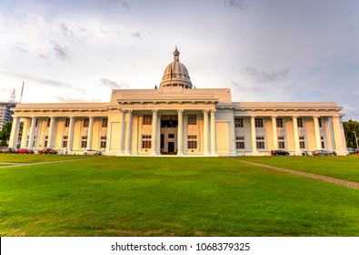 The city hall of Colombo seen at the golden hour, Sri Lanka.