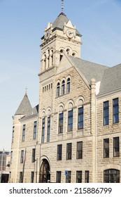 City Hall in donwtown of Davenport, Iowa, USA