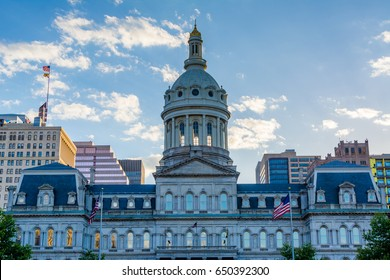 City Hall, in downtown Baltimore, Maryland.