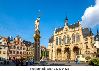 City hall and Fish Market in Erfurt, Germany