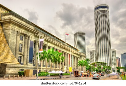 The City Hall, a historic building in Singapore. Currently it is the National Gallery