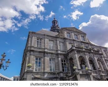 City Hall of Maastricht and Market Square in Limburg Province of the Netherlands