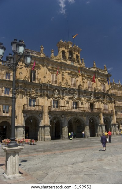 City Hall in Major Square. Salamanca, Spain