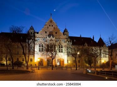 The City Hall at night, Kecskemet, Hungary