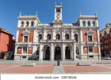 City hall on plaza mayor square in Valladolid, Castile and Leon, Spain