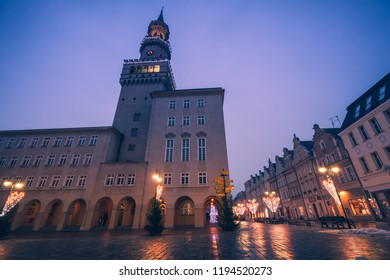 City Hall in Opole. Opole, Opolskie, Poland.
