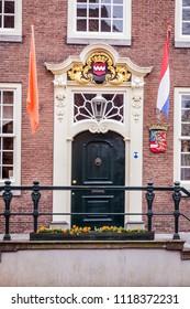 City hall of the picturesque ancient little village Buren in Neder-Betuwe, Gelderland, Netherlands