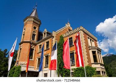 City hall in Schladming city center, Styria, Austria