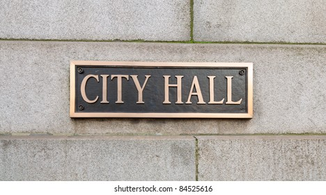 City Hall sign.