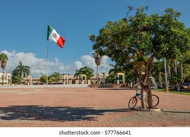 City Hall square, Playa del Carmen, Mexico