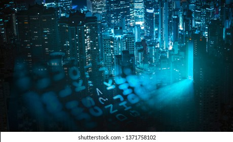 City of innovation at night