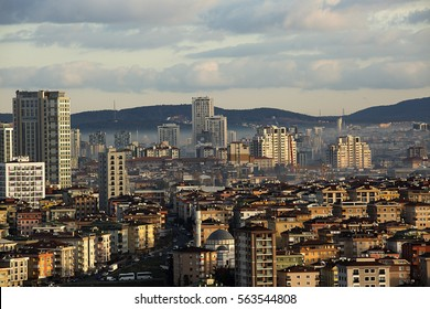 The city of Istanbul and the sky.