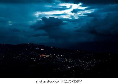 The city of Kalimpong from a neighbouring hill.