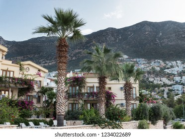 The city of Kalkan(Turkey) and and its harbour