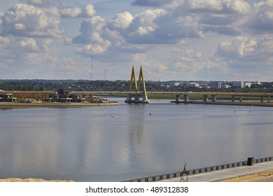 "The city of Kazan. Bridge ""Millennium"""