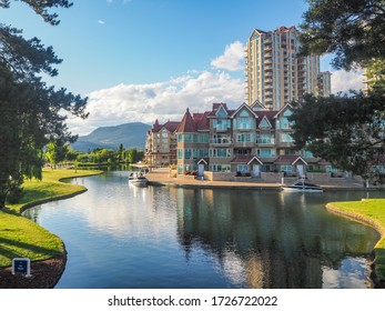 The city of Kelowna in West-Canada