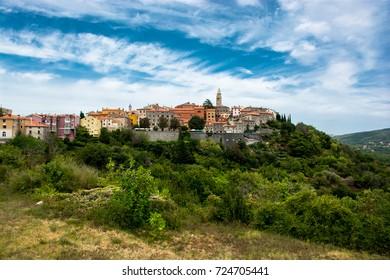 City of Labin in Istria in Croatia