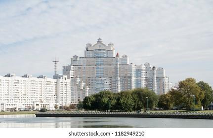 City landscape. Minsk. Belarus. RiverCity landscape.