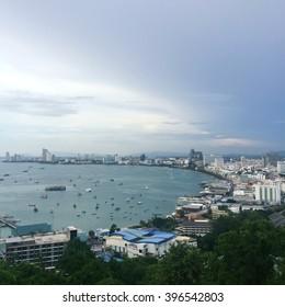 City landscape of Pattaya, Thailand
