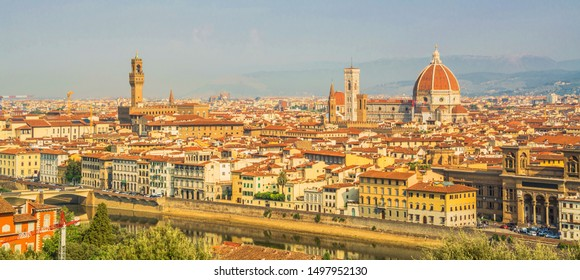 City landscape. Top view of Florence