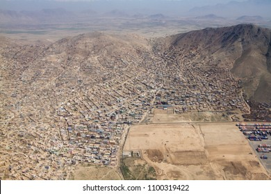 City Landscape view from sky, Kabul, Afghanistan