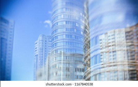City life. Abstract background for your text. Megalopolis. Skyscrapers. Panoramic skyline. Creative design. Stylish artwork of modern city. Vintage.
