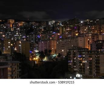 City light by night 4, Genoa