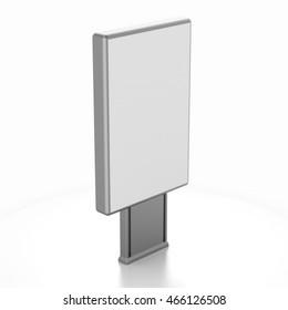 City light mock up isolated on white background. 3d illustration