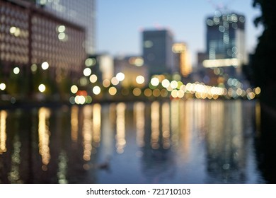 city light reflection