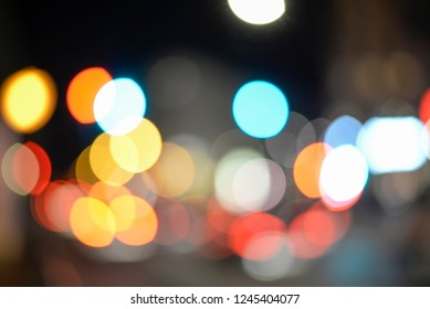 city lights , blurred background