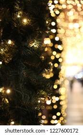 City lights at Christmas time, Stockholm Sweden.
