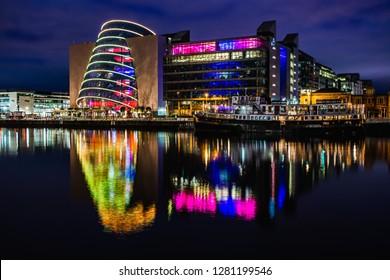 City lights Dublin