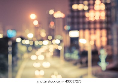 The city lights. Motion blur. abstract colorful defocused circular facula,abstract background.