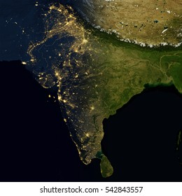 Bangladesh india images stock photos vectors shutterstock city lights on world map india elements of this image are furnished by nasa gumiabroncs Image collections