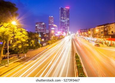 City lights,Ha Noi,Viet Nam 8/2015
