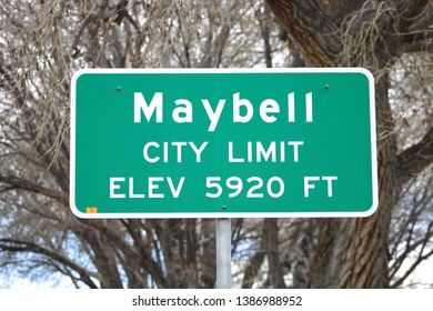 City Limit Sign for Maybell, CO: Elev. 5920: Maybell CO (May 1, 2019)