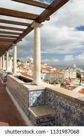 The city of Lisboa from Santa Luzia Viewpoint, Portugal