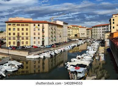 City of Livorno in september. Tuscany, Italy