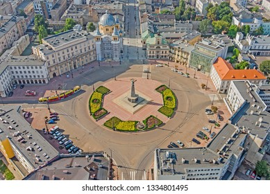 The city of Lodz, Poland - view of Freedom Square
